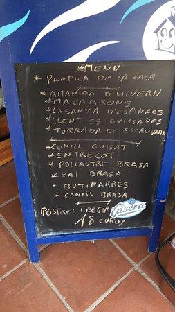 Tagamanent, Spain: Menú de domingo