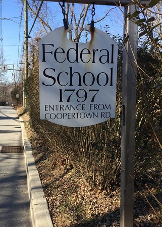 ‪‪Haverford‬, بنسيلفانيا: Federal  School 1797 sign on Darby Road, Haverford‬