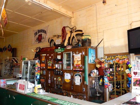 Interesting decor inside the Peeramon Pub.