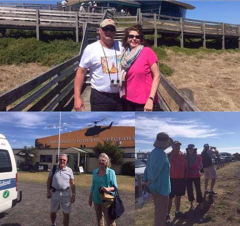 A few guests sightseeing on Phillip Island