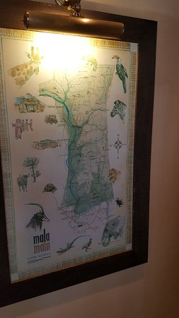 Mala Mala Private Game Reserve, Sudáfrica: Mapa do lodge