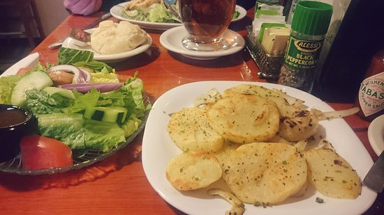 Midtown Cafe: House potatoes, side salad
