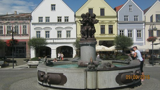Fountain on Marianske square by Drahomíra Berakova