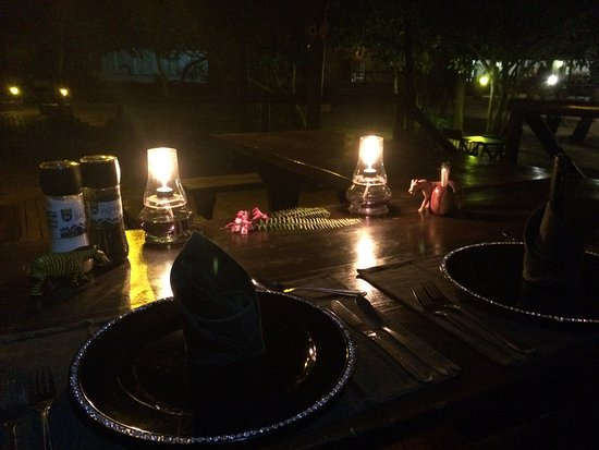 Thornhill Safari Lodge: our personal table by the pool
