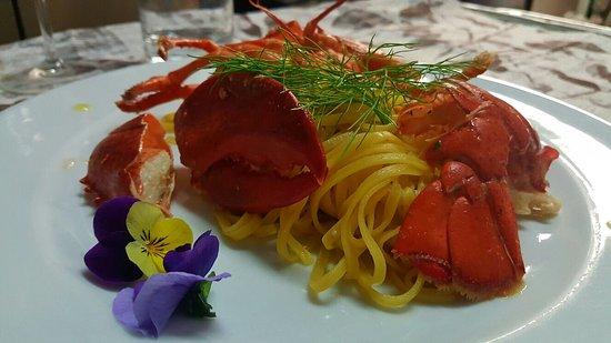 Ponsacco, Italy: Tagliolini al astice