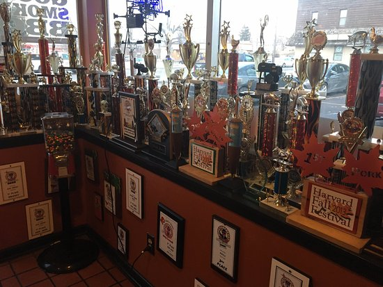 East Rochester, NY: Good Smoke BBQ - trophies from BBQ contests!