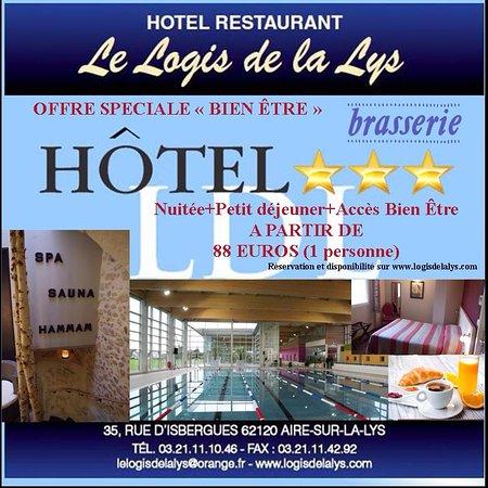 Aire-sur-la-Lys, فرنسا: Profitez de notre séjour bien-être avec le complexe aquatique situé à 600m