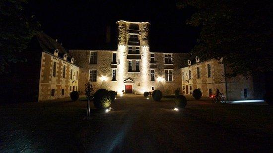 Avanton, França: vue du château la nuit