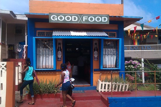 Grenville, Grenada: Facade of establishment - parking available close by