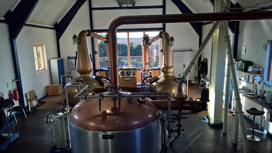 East Harling, UK: Whiskey in the making