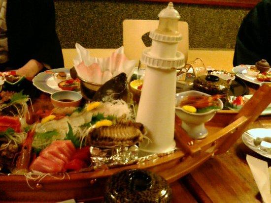 Omaezaki, Japón: 刺身の舟盛り