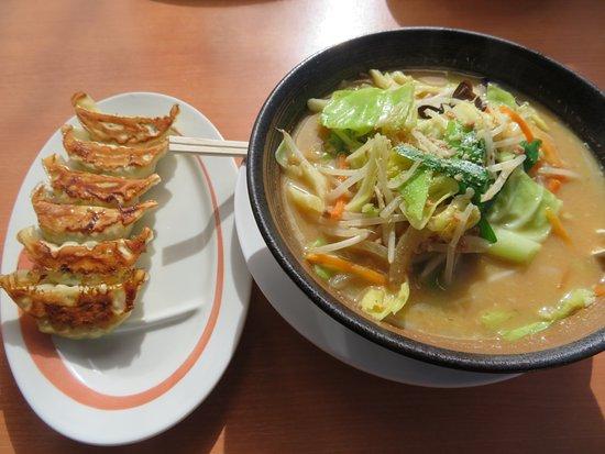 Kasukabe, Japón: 味噌野菜らーめんと餃子