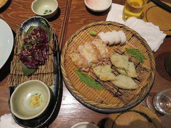 Fukunohana Nihombashi: 鯨の刺身と蒲鉾を食べました