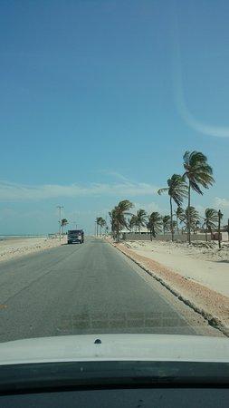 Areia Branca, RN: Estrada que leva a Ponta do Mel