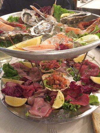 Presezzo, Italy: Antipasto di pesce crudo