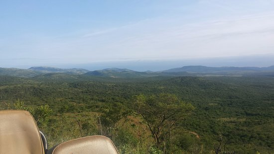 Pongola, Afrika Selatan: View from the drinks stop.