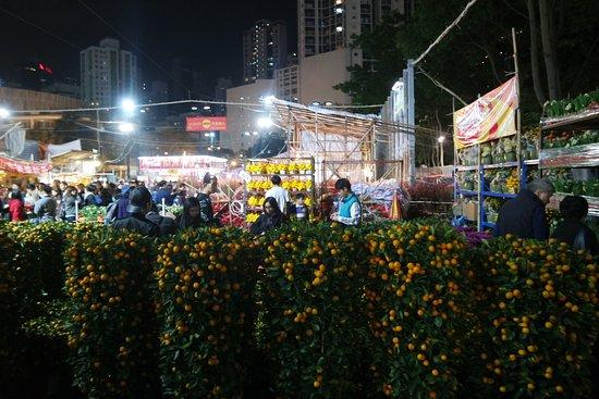 Hong Kong Victoria Park Lunar New Year Fair (Flower Market)