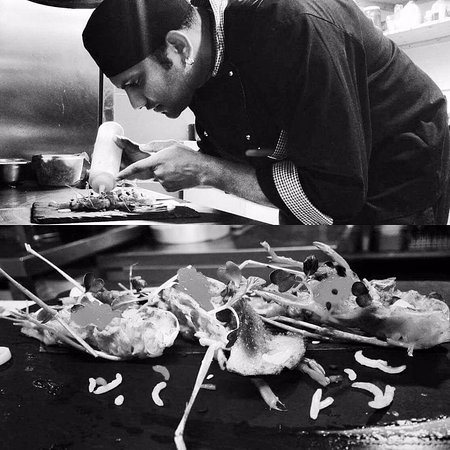 our head chef sunu check out the attention to detail wow