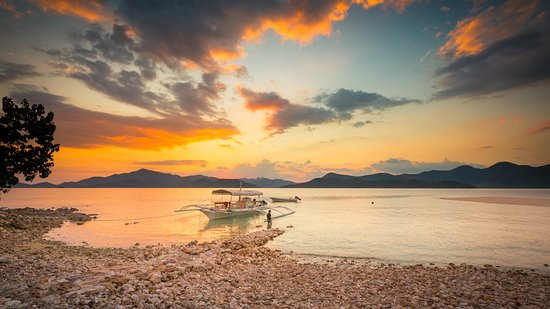 Culion, Philippines: Majestic sunset view