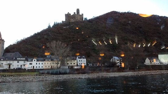 ETS Sightseeing Tours: A Castle in the Rhine Cruise. As you can see it's far away in the distance