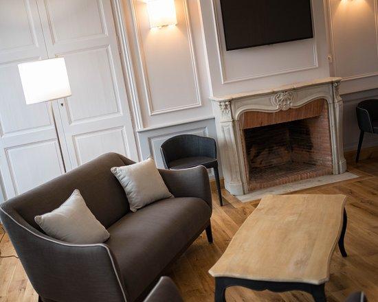 Ducey, فرنسا: Petit salon du Bureau d'Information Touristique de Ducey.