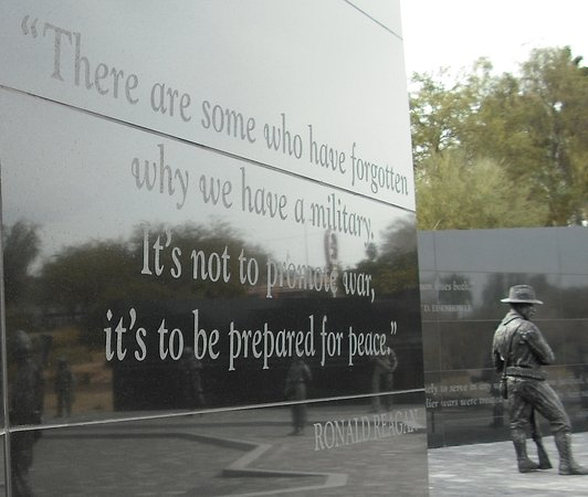 Quote From President Reagan Picture Of Las Vegas Veterans Memorial