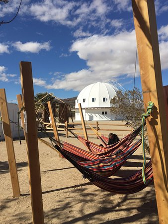 Landers, CA: Hammocks with the Integratron in background