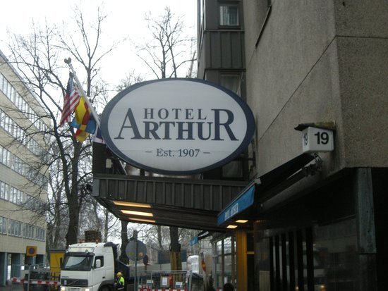 Arthur Hotel: A detail of the entrance