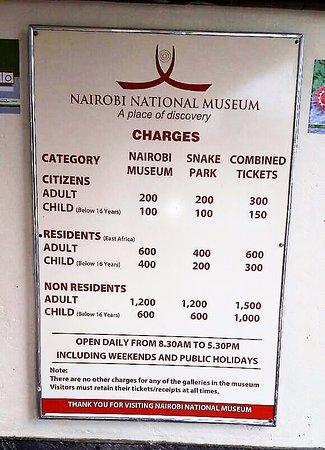 Kenya national museum charges