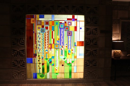 arizona biltmore a waldorf astoria resort frank lloyd wright designed stained glass in entry