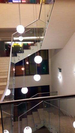 Vecses, المجر: Decorative lights of stairs