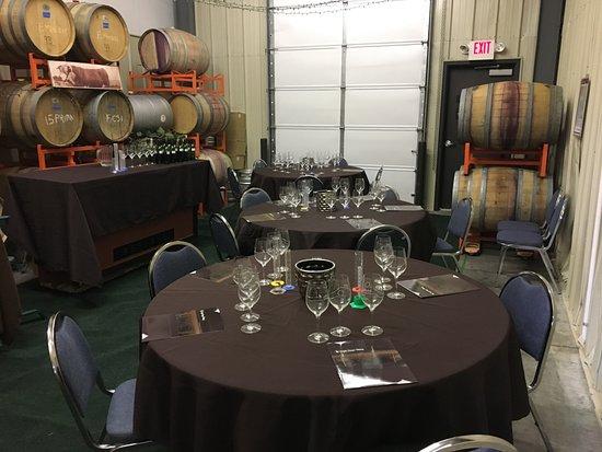 Prosser, WA: Inside tasting room