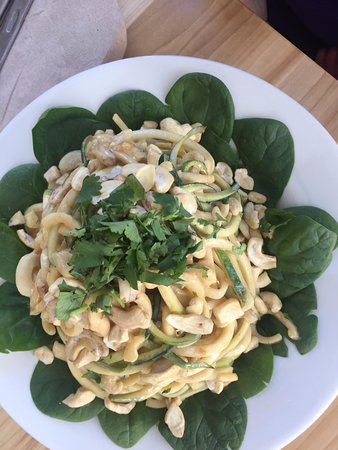 Seedz Cafe: Zucchini noodles - a Thai dish, I believe