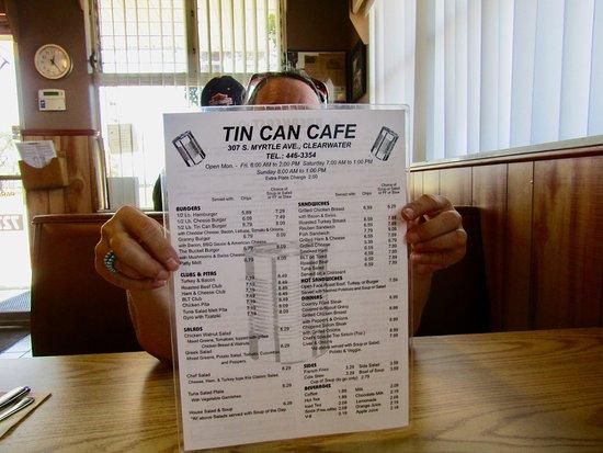 Tin Can Cafe : Menu