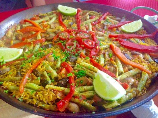 San Marcos, Nikaragua: paella vejetariana