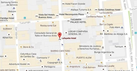 Lafayette Hotel: Map