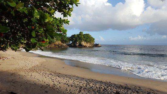 Santa Barbara de Samana, Dominikanische Republik: Пологий и не опасный вход в море
