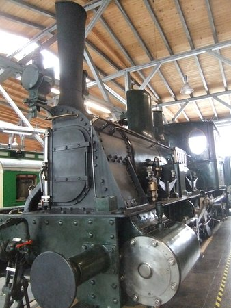 Freilassing, Germany: One of the locomotives - cut in half so you can see the inside workings!