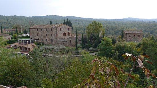 Castel Monastero: vista da una camera