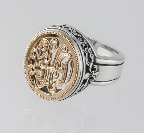 Symmetry Jewelers Designers Hand Engraved Monogram Jewelry By Tom Mathis