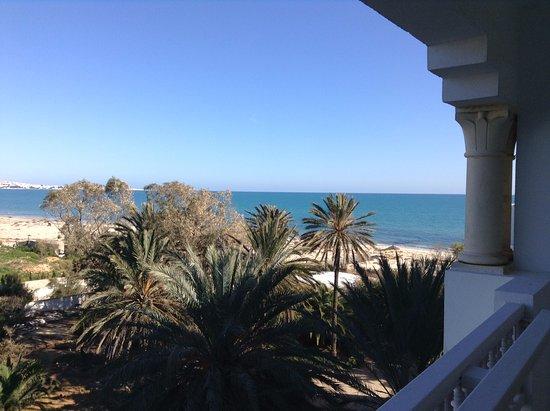 Hotel Palace Oceana Hammamet: Vue de la chambre sur le golfe de Hammamet