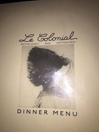 Le Colonial: Restaurant week