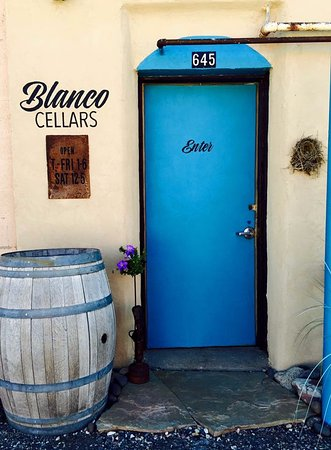 Meeker, CO: Blanco Cellars front door (alley) entrance