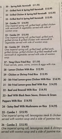 Stony Plain, Canadá: Take-Out Menu pg.2 (updated feb 2017)
