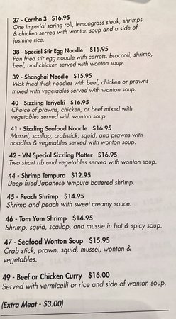 Stony Plain, Canadá: Take-Out Menu pg.3 (updated feb 2017)