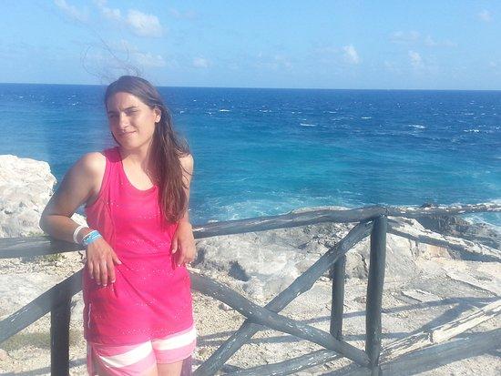 Playa Delfines: punta de isla