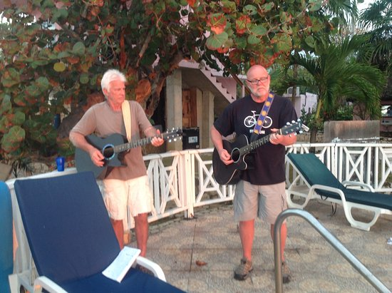 Home Sweet Home Resort: Musicians out b he pool