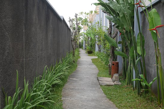 The Khayangan Villas: jalanan masuk ke villa