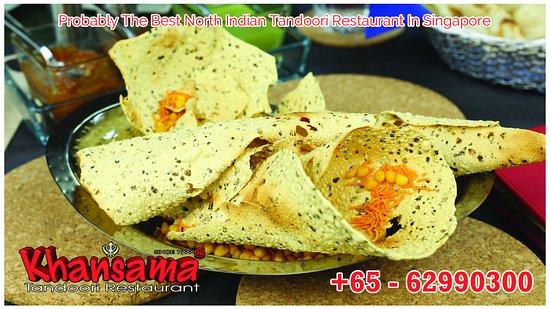 Papadums Picture Of Khansama Tandoori Restaurant Singapore Tripadvisor