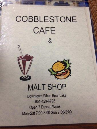White Bear Lake, MN: Cobblestone Cafe